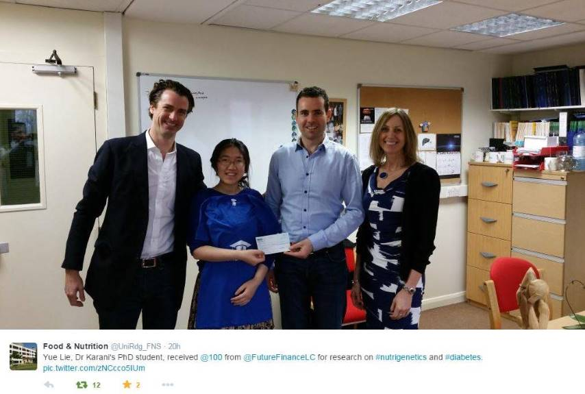 Phd Student at University of Reading receives £100 scholarship | Future Finance