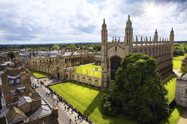 Cambridge University and Kings College Chapel slipped in the times 2016 list
